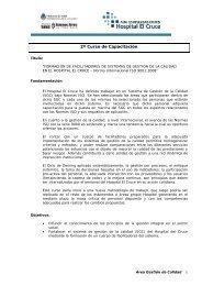 -Correspondencia – notas CLAD ENA IIAS informe - Hospital El Cruce