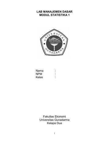 Modul Statistika 1.pdf - iLab - Universitas Gunadarma