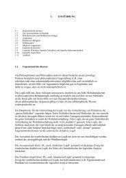 Teil 1 - Logik und Sprachtheorie / Mathematische Logik