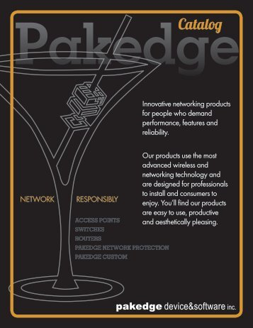 Download Pakedge Catalog
