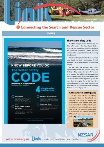 Download or Read the latest NZSAR Link Newsletter - Coastguard ...