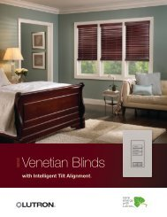 Lutron Venetian blinds - Hill Residential Systems