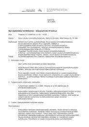 MUISTIO 16.3.2005 Opinnäytetöiden kehittäminen ... - Oamk