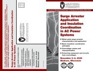Surge Arrester Application and Insulation Coordination in AC Power ...