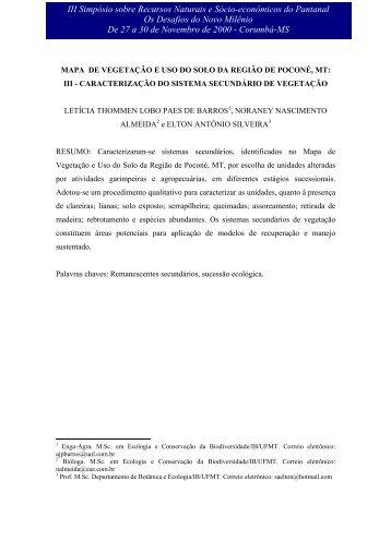 ÁREAS ANTROPIZADAS - Embrapa Pantanal