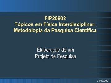 Elaboração de um Projeto de Pesquisa - Chasqueweb.ufrgs.br