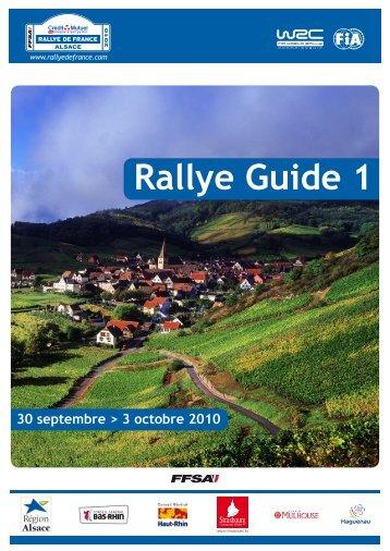 Rallye Guide 1 F - FFSA