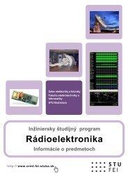 Rádioelektronika - Katedra rádioelektroniky FEI STU v Bratislave