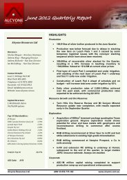 Quarterly Activities Report for the Period Ending 30 June 2012