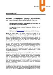 Pressemitteilung zum Download - Berliner Energieagentur