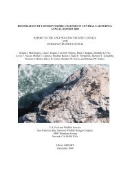 Restoration of - Gulf of the Farallones National Marine Sanctuary ...