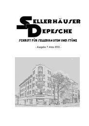 7. Sellerhäuser Depesche - Bürgerverein Sellerhausen-Stünz