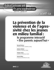 La prévention de la violence et de l'agres- sivité chez les ... - acelf