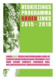 GroenLinks Verkiezingsprogramma 2015-2018 (PDF)