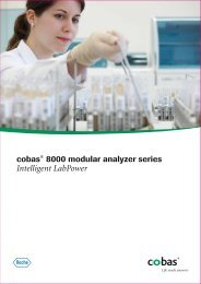 cobas® 8000 modular analyzer series - Roche Diagnostics