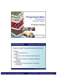 Pengeringan-Beku - Bogor Agricultural University