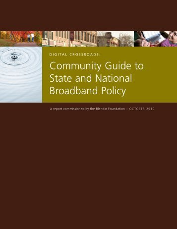 Community Guide to Broadband Policy - Blandin Foundation