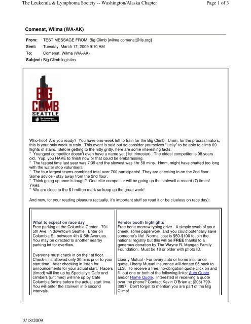Comenat, Wilma (WA-AK) Page 1 of 3 The Leukemia     - Llswa org