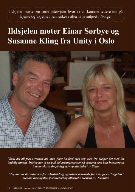 Ildsjelen møter Einar Sørbye og Susanne Kling fra Unity i Oslo