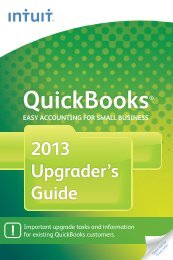 QuickBooks 2013 Upgrader's Guide - International - Intuit