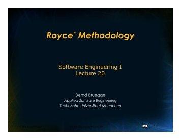 L20_Methodologies_Royce - Chair for Applied Software Engineering
