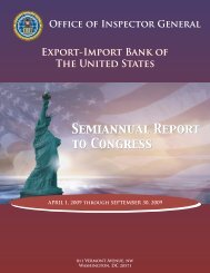 April 1, 2009 - Export-Import Bank of the United States
