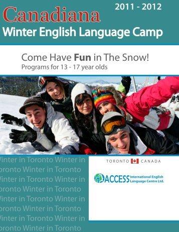Winter English Language Camp