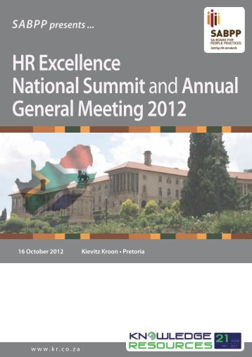 HR Excellence National Summit andAnnual General ... - SABPP