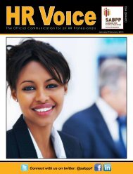 HR Voice Jan-Feb 2013 Newsletter Download - SABPP