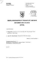 OLG-Urteil - Wengert Gruppe