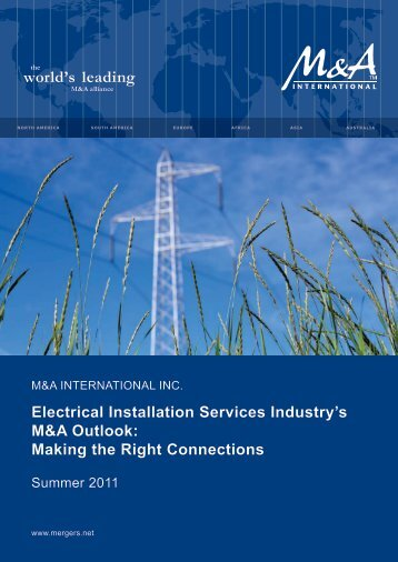 Electrical Installation Services Industry's M&A Outlook - Western ...