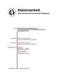 Diplomarbeit - Institut für Simulation und Graphik - Otto-von ...