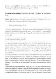 Die Kommunalwahl 2009 in Dortmund und das plötzliche Loch von ...