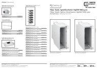 Fiber Optic Spleißverteiler OpDAT REG pro Fiber ... - METZ CONNECT