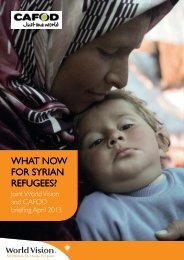 What now for Syrian refugees? - Cafod