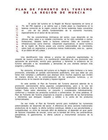 P L A N    D E    F O M E N T O    D E L    T U R I S ... - Murcia Turística