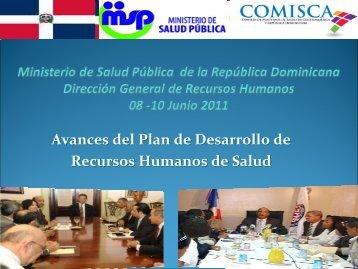 Avances del Plan de Desarrollo de Recursos Humanos de Salud