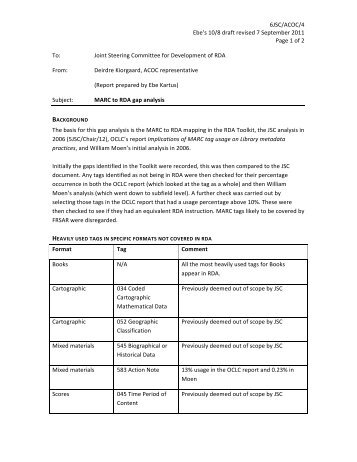 6JSC/ACOC/4 Ebe's 10/8 draft revised 7 September 2011 Page 1 of ...
