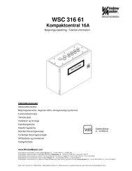 Tekniske data WSC 316 61 - WindowMaster