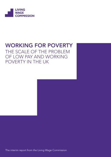WORKING FOR POVERTY