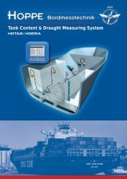 Tank Content & Draught Measuring System