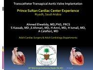 Percutaneous Aortic Valve Implantation Experience PSCC - Sha ...
