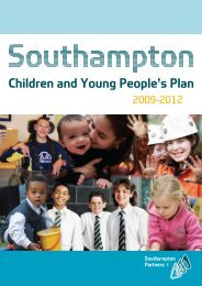 Children and Young People's Plan 2009-2012 - Southampton Connect