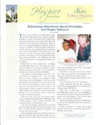 Winter Newsletter - Talbot Hospice Foundation, Inc.