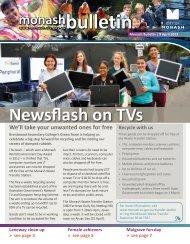 Newsflash on TVs - City of Monash