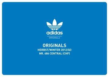 Segmentierung der adidas Originals Kollektion
