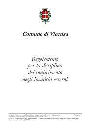 Regolamento per la disciplina del conferimento degli incarichi ...