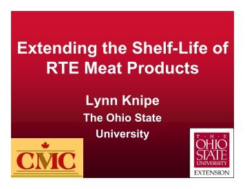 Extending the Shelf-Life of RTE Meat Products
