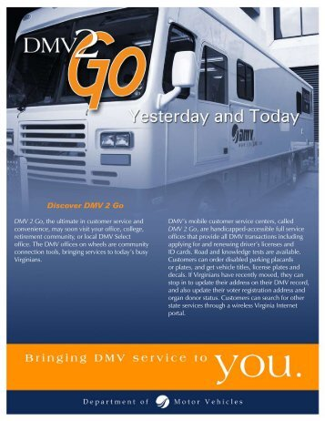 Discover DMV 2 Go - Virginia Department of Motor Vehicles