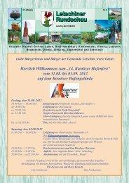 14. Kienitzer Hafenfest - Gemeinde Letschin